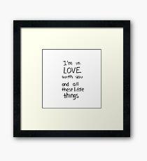 Little things.  Framed Print