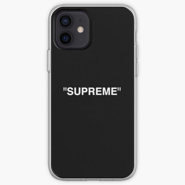 Supreme X Off-White LOGO BLANCO / ROJO / NEGRO Funda blanda para iPhone