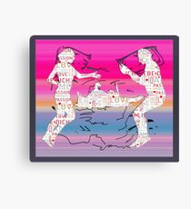 Cool cartoon together we can be Canvas Print