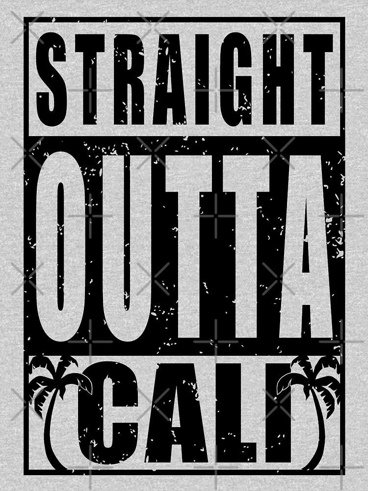 Black Vintage Straight Outta Cali by EthosWear