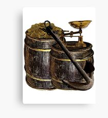 Weighing Anchor And Gold Canvas Print