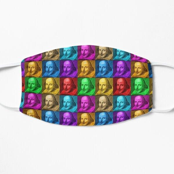 William Shakespeare Pop Art Flat Mask