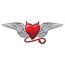 Devil Winged Heart by doonidesigns