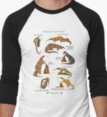 Pangolins of the World Men's Baseball ¾ T-Shirt