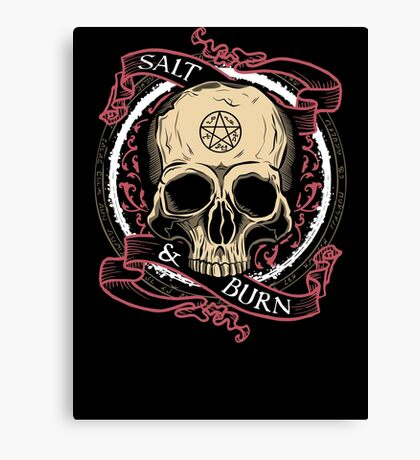 Salt & Burn Canvas Print