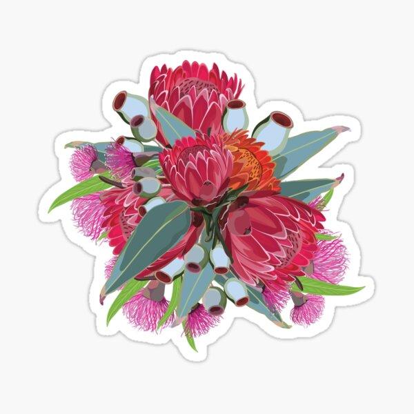 Protea & Eucalyptus Pattern Sticker