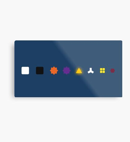 The Witness - Puzzle Types Metal Print