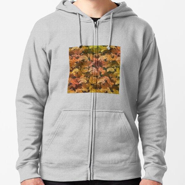 Fall leaves pattern design Zipped Hoodie
