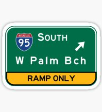 West Palm Beach, Road Sign, Florida Sticker
