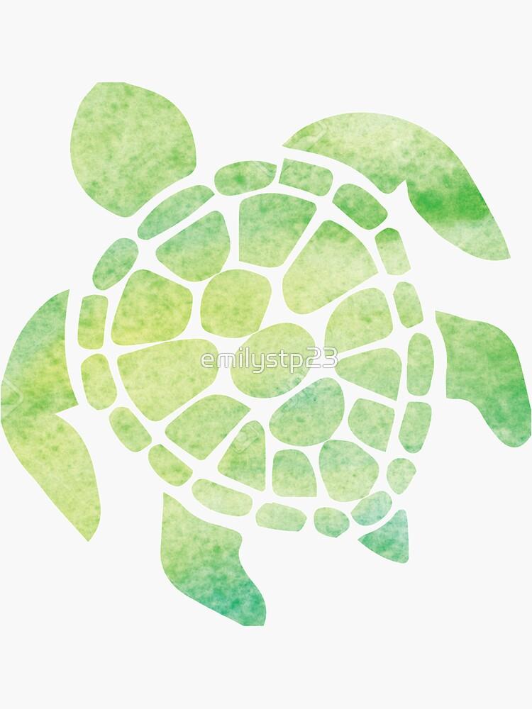Watercolor Sea Turtle by emilystp23