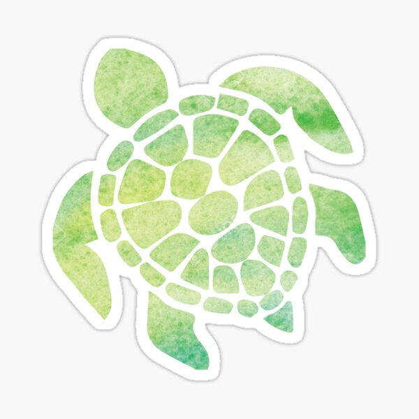 Watercolor Sea Turtle Sticker