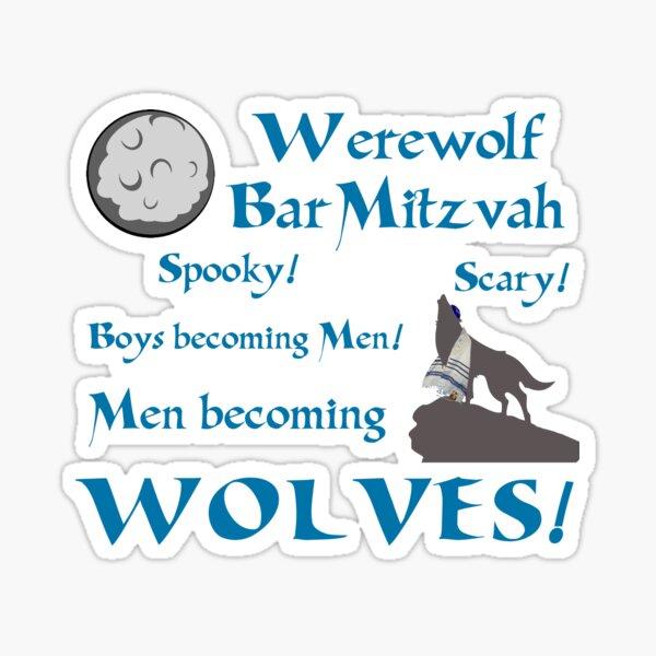 Werewolf Bar Mitzvah Sticker