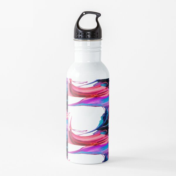 Abstract swirl (pink/blue) Water Bottle