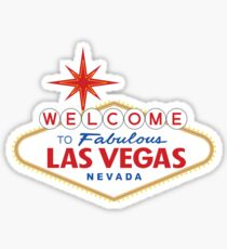 Pegatina Bienvenido a Fabulous Las Vegas Sign