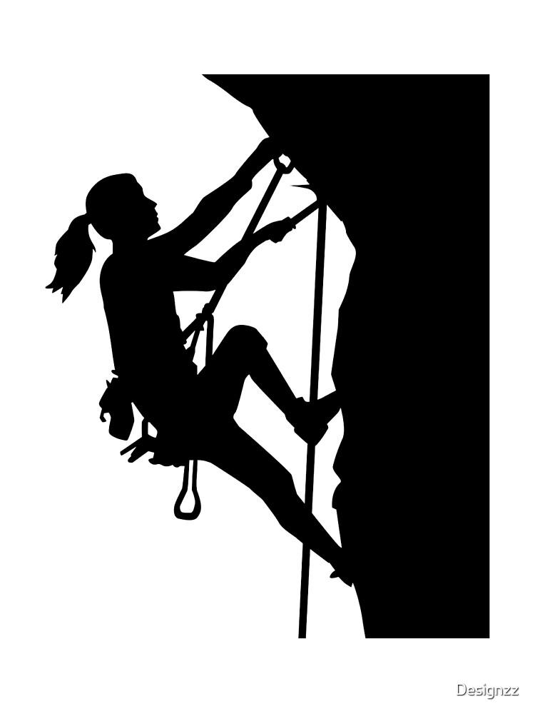 Climbing woman girl by Designzz