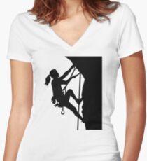 Camiseta entallada de cuello en V Escalada chica mujer