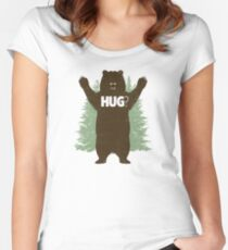 Bear Hug (Reworked) Women's Fitted Scoop T-Shirt