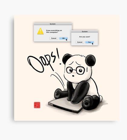 IT Panda Canvas Print