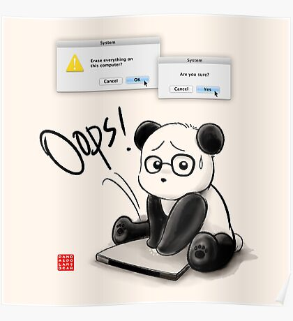 IT Panda Poster