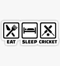 Eat sleep cricket Sticker