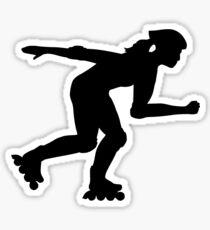 Inline skating girl Sticker