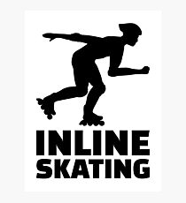Inline skating Photographic Print