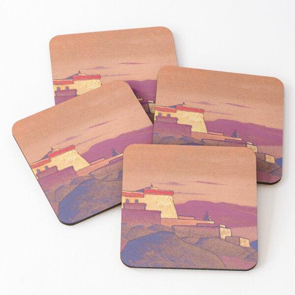 Nicholas Roerich - Tibet, Monastery Gelug-Pa. Coasters (Set of 4)
