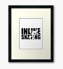 Inline skating Framed Print