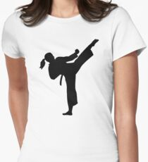 Karate girl woman Womens Fitted T-Shirt