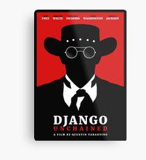 Lienzo metálico Cartel de la película Django Unchained