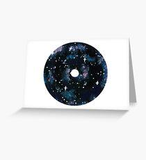Galaxy CD Design Greeting Card