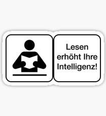 Warnung Deutsch Lesen Erhöht Intelligenz Sticker