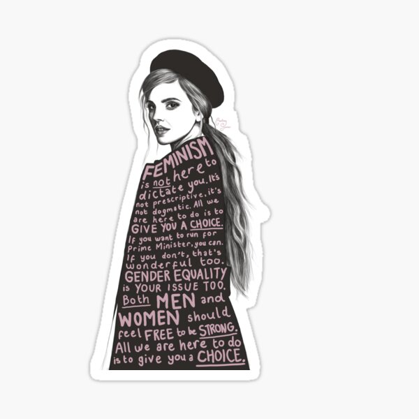 Emma Watson Feminism Design Sticker