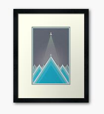 Space Man Blue  Framed Print