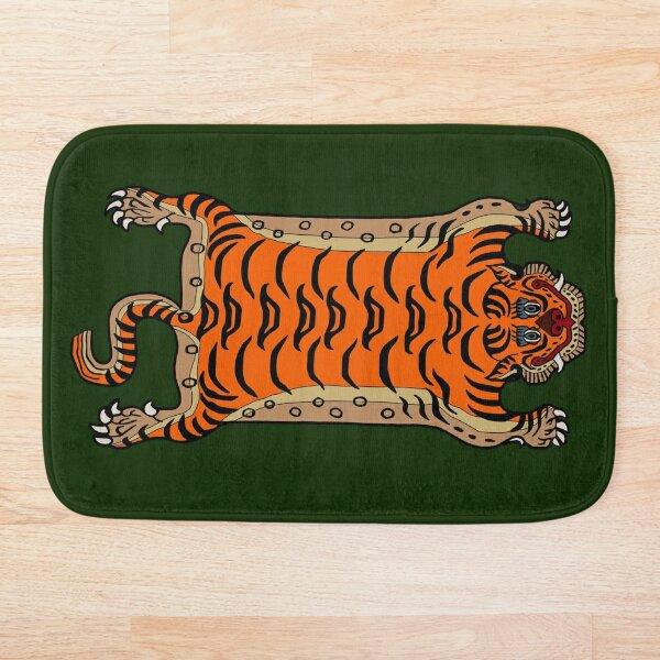 TIBETAN TIGER RUG-green Bath Mat
