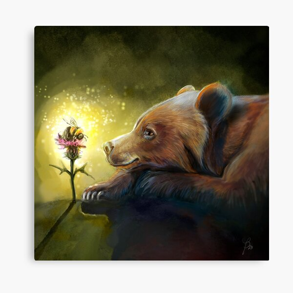 The bumblebee bear: Peaceful hum Canvas Print