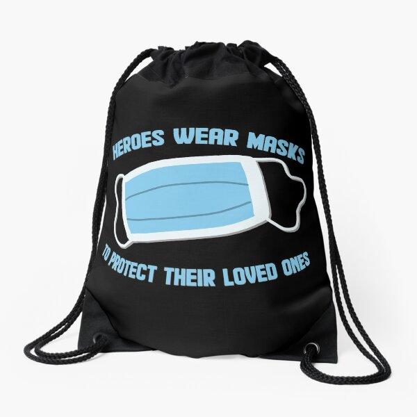 Hero's Mask Drawstring Bag