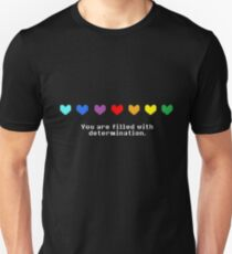 Camiseta unisex Undertale - Estás lleno de determinación.