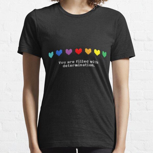 Undertale: estás lleno de determinación. Camiseta esencial