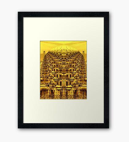 Golden Orb Framed Print