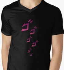 Jojo MENACING ゴゴゴ ( Jojo's Bizarre Adventure ) Men's V-Neck T-Shirt