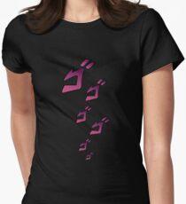 Jojo MENACING ゴゴゴ ( Jojo's Bizarre Adventure ) Womens Fitted T-Shirt