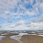Pacific Ocean Beach at Low Tide by Jeff Goulden
