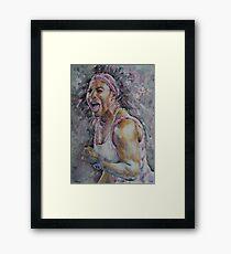 Serena Williams - Portrait 4 Framed Print