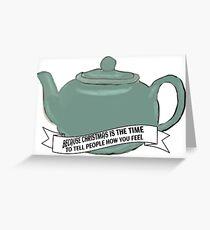 Pam's Teapot Christmas gift Greeting Card