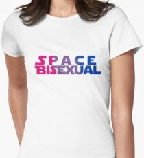 Space Bisexual Womens Fitted T-Shirt