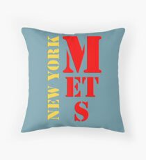 New York Mets Throw Pillow