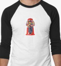 Retro Gum ball machine red Men's Baseball ¾ T-Shirt