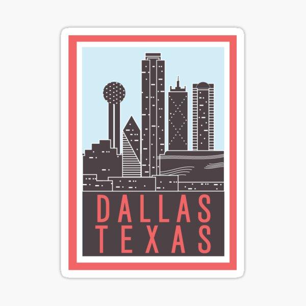 Dallas Tx - Pink Sticker