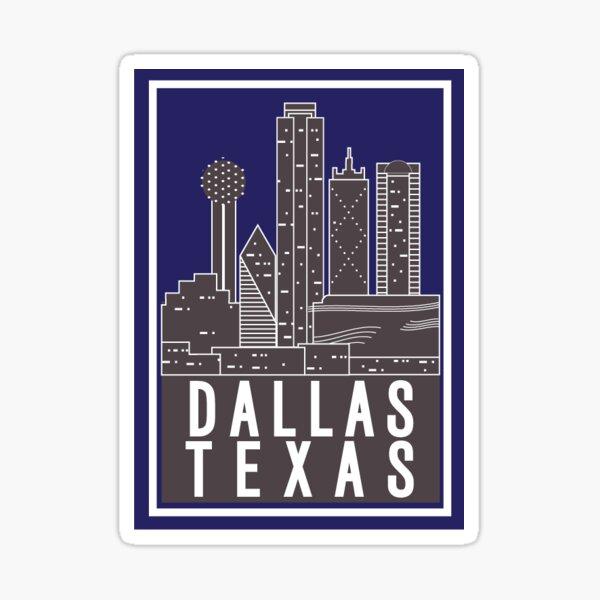 Dallas Tx - Purple Sticker